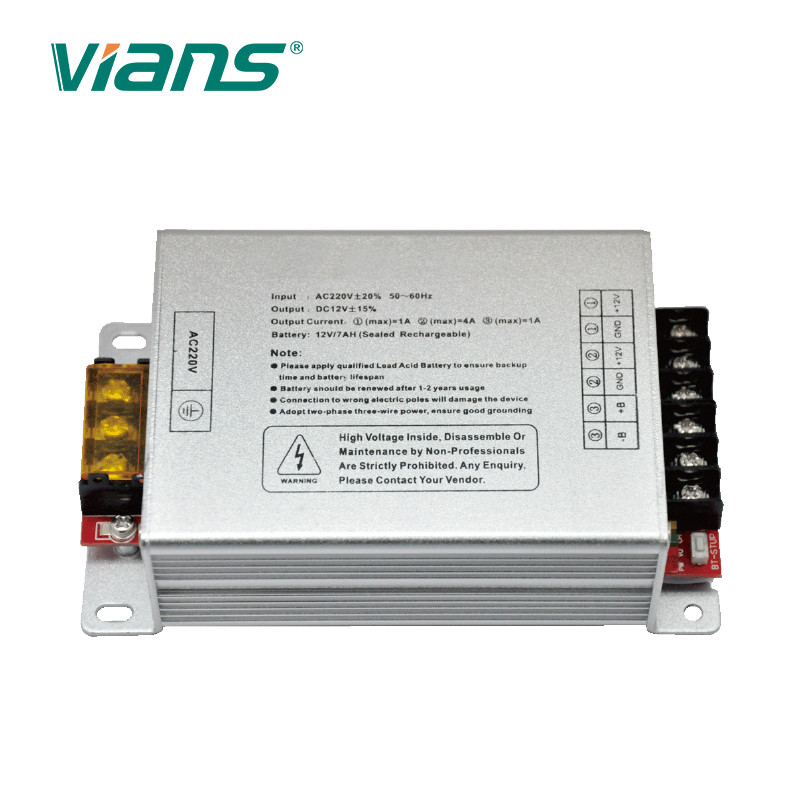 12V 5A Switching Mode Door Access Power Supply Durable With Battery Backup